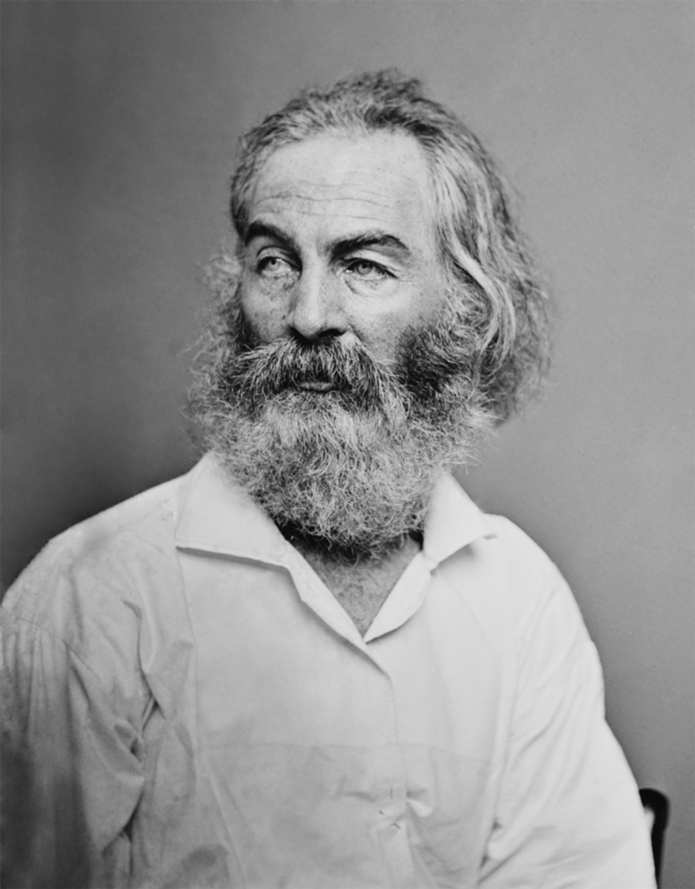 Walt Whitman photographed by Mathew Brady