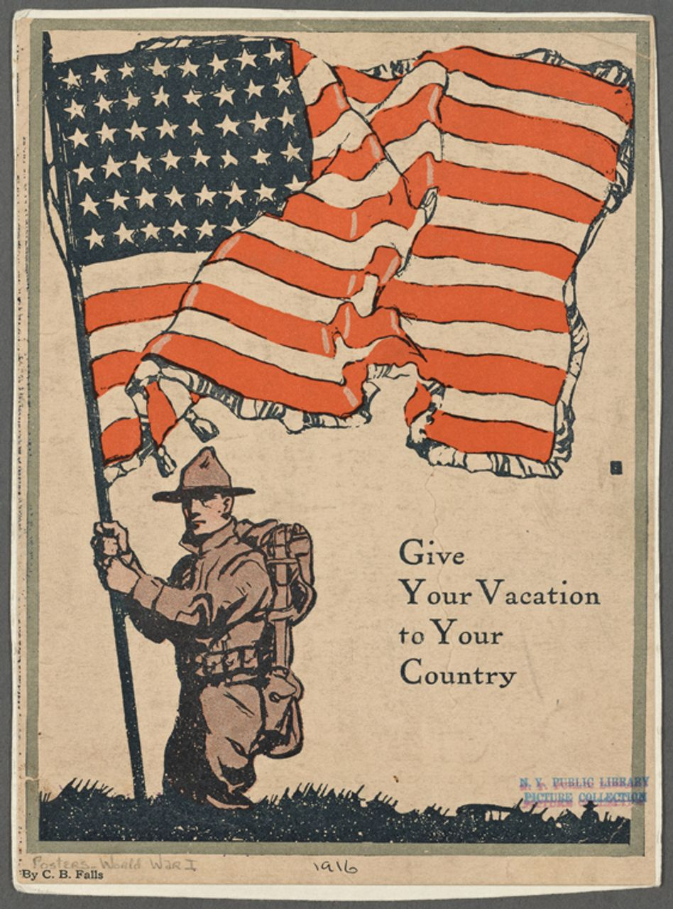 'Give Your Vacation to Your Country,' 1916